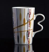 Kaffeebecher aus Keramik 0,33 Liter (coffee - Muster 1)