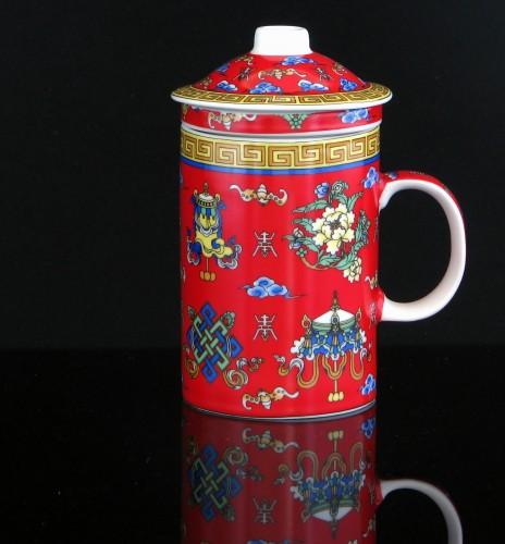 kitchen paradise teebecher teetasse mit teebereiter sieb aus keramik 0 33 liter. Black Bedroom Furniture Sets. Home Design Ideas