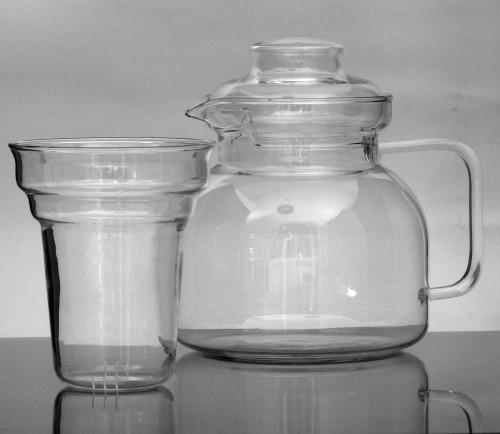 teebereiter teekanne mit st vchen und sieb aus borosilikatglas jenaer glas 1 5 ebay. Black Bedroom Furniture Sets. Home Design Ideas